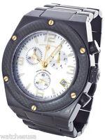 Swiss Legend Men's Chronograph Black Steel Silver Dial Watch SL-10541-BLK