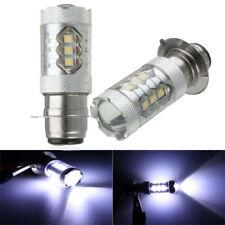 2x P15D P15D-25-1 H6M 6000K 80W 16 LED Headlight Projector Motorcycle Hi/Lo Bulb