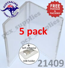 5 x Super Clear Single USB flash drive Storage Poly Case Free Post