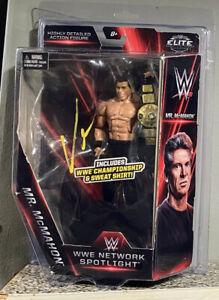 Vince McMahon signed ELITE FIGURE MR. MCMAHON WWE NETWORK SPOTLIGHT AUTOGRAPHED