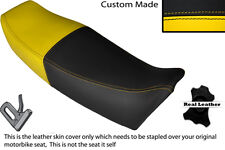 BLACK & YELLOW CUSTOM FITS YAMAHA FZ 750 85-91 GENESIS LEATHER SEAT COVER