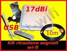 KIT WIFI Antenna wireless wi-fi Usb tp-link 10m cavo