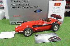 MASERATI 250 F #2 GP Francia FANGIO 1957 1/18 CMC M-102 coche miniatura recoger