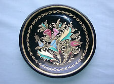 Beautiful Antique Hand Made & Painted Art Nouveau Floral Bouquet Wood Dish