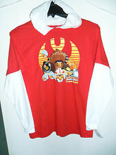 Angry Birds Star Wars Red and  White Long sleeve Hooded Youth T-shirt Size XL