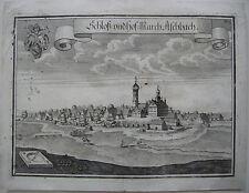Asbach Petershausen Dachau Kupferstich 1701 Wening Oberbayern