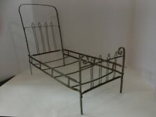 Antique/Vintage Metal Doll Baby Bed that Folds Up #2