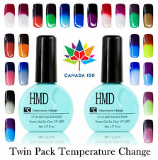 Canada 150 Twin Pack HMD Soak Off  UV LED temperature changing nail gel polish