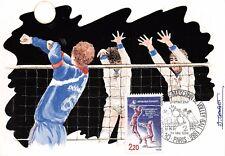 France (Championnat du monde masculin de volley ball) 1986 carte premier jour