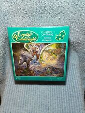 """NEW IN BOX Crystals & Candlelight Glitters and Glows """"Wings"""" Puzzle 750 Piece"""