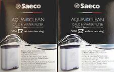 2 x SAECO Aqua Clean CA6903/00 CA6903/10 Wasserfilter 5000 Tassen ohne entkalken