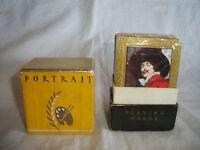 VTG ART DECO 1932 PORTRAIT PLAYING CARDS 2 DECKS IN BOX WESTERN P.&L. CO RACINE