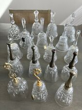 More details for a mixed collection of over 30 vintage glass, china and brass decorative bells