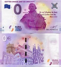 Martin Luther Germany 0 Euro Souvenir Note 2017 Series 1 Consecutive Lutheran