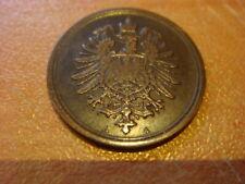 Germany Empire 1 Pfennig 1876 A , rare date High Grade Coin , Deutschland