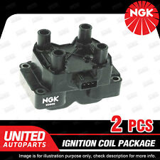 2 x NGK Ignition Coils Pack for Land Rover Discovery Series 2 Range Rover V8