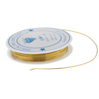 1 Rouleau Artisanat Fil De Cuivre Plaqué Or Perles Cordes Fabrication De