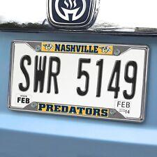 Nashville Predators EZ View Chrome Metal License Plate Frame
