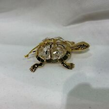 "made with SWAROVSKI CRYSTAL ELEMENTS ""TURTLE"" FIGURINE 24KT GOLD PLATED"