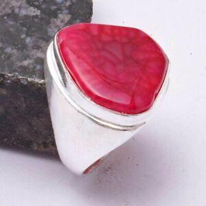 Solar Agate Ethnic Handmade Man's Ring Jewelry US Size-9 AR 39299