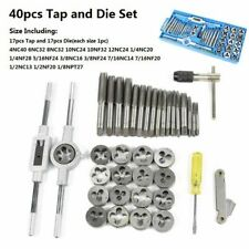 Thread Screw Plug Tap Drill Metric Hand Tap Die Wrench Threading Tool 1 Set