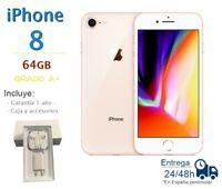 IPHONE 8 DE 64GB DORADO REACONDICIONADO LIBRE / GRADO A+ / CAJA Y ACCESORIOS