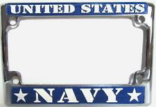 US NAVY Motorcycle Chrome Metal License Plate Frame United States