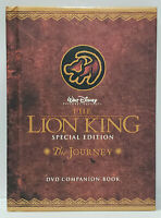 LION KING Special Edition The Journey DVD Companion BOOK Hardcover Disney 1i