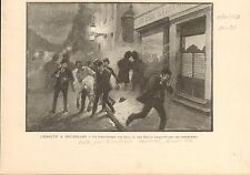 Manifestation Bruxelles Suffrage Universel FRANCE GRAVURE ANTIQUE OLD PRINT 1902