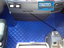 TRUCK ECO LEATHER FLOOR MATS SET-BLUE FIT MAN TGX AUTOMATIC - TILL 67 PLATE