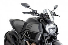 SAUTE VENT NAKED N.G. SPORT PUIG DUCATI DIAVEL 2014 FUME CLAIR