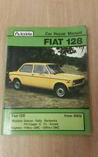 AUTODATA FIAT 128 CAR REPAIR MANUAL 276 IN GOOD USED COND WITH FREE P&P