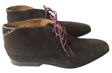 New PAUL SMITH Men's US Sz 9 M Jay Espresso Brown Suede Chukka Boots w/ Dustbag