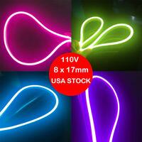 50/100/150 Flex LED Neon Rope Light Xmas Wedding Party Home Bar Decor Light 110V