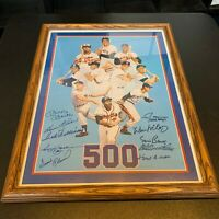 Nice Mickey Mantle Ted Williams 500 Home Run Club Signed Large Photo 10 Sigs JSA
