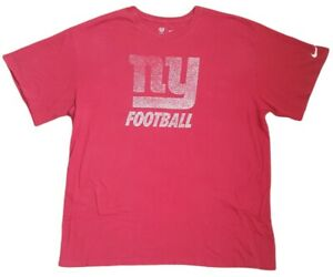nike mens ny giants crew neck vintage t shirt retro casual sports red size xxl