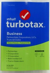 TurboTax Business 2020 Desktop Software, Federal Return + Federal E-file- Disc
