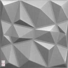 3D Wandpaneele Polystyrol Deckenpaneele Platten Paneele Diamant Grau 50x50cm