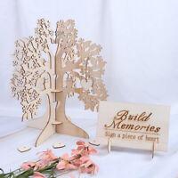 Wood Wish Tree Wedding Guest Book Tree Hearts Pendant Wedding Party Decoration