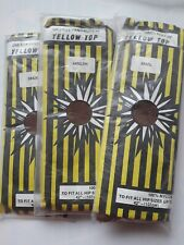 3 Pairs Yellow Top Hosiery nylon tights. Hips 42-48""