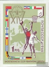 Soviet-Union Block40 (complete issue) used 1965 Basketball-euro