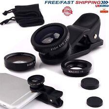 Teléfono Móvil Universal Clip en Kit de Lente de cámara Macro Profesional de ojo de pez amplia