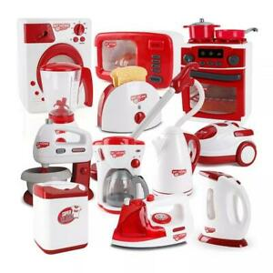 Kids Household Toy Pretend Play Kitchen Appliances Blender Toaster Mixer UK BNB