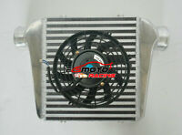 "280x300x76mm Universal FMIC Aluminum Turbo Intercooler in/outlet 76mm 3"" + Fan"
