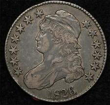 1826 Capped Bust Half:  problem-free and natural XF
