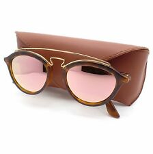 Ray Ban 4257 6092/2Y 53 Matte Havana Gold Pink Mirror New Authentic Sunglasses