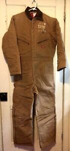 Mens Dickies Quilt Lined Winter Insulated Duck Canvas Coveralls M 38-40 Reg