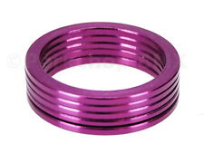 """Bicycle BMX or MTB headset spacers for 1 1/8"""" threadless (SET of 5) 2mm - PURPLE"""