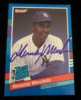 HENSLEY MEULENS 1991 DONRUSS ROOKIE Autographed Signed AUTO Baseball Card 31