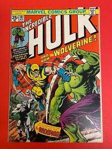 Incredible Hulk #181 NM-/NM Unrestored 1st full appearance of Wolverine